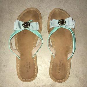 Kate Spade Mint Bow Flip-Flops